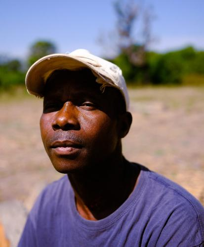 Forestry agent Malam Djassi was posted to Djendo in to monitor illegal logging. Image by Ricci Shryock/Mongabay. Guinea-Bissau, 2020.